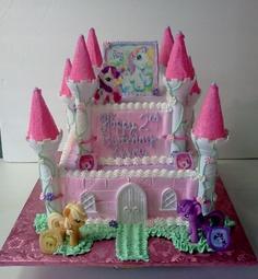 My Little Pony Castle Cake