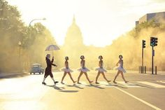 . ballet dancers, wonderland, swan lake, abbey road, walk, the road, inspiring pictures, photography, roads