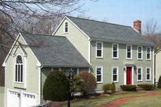 red door, nj side, hous color, side color, window, garage doors, front doors, exterior colors, oliv side