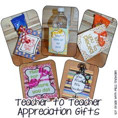 teacher to teacher gifts...For little pick-me-ups when we need them!  Neat ideas!