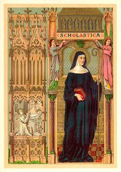 Saint Scholastica patron of convulsive children