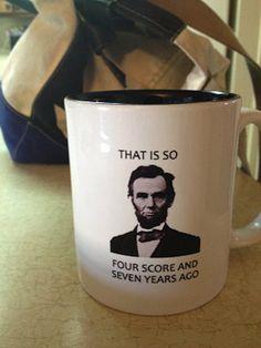 Hipster Lincoln Mug