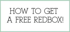 Pretty Providence | A Frugal Lifestyle Blog: How to get a FREE Redbox!