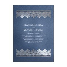 Luminous Lace in Foil Print Wedding Invitation by David's Bridal #davidsbridal #sparkleandshine #weddinginvitations