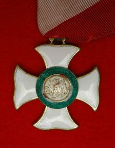 Obverse side of the badge of the Grand Cross of the Military Order of Maria Theresa.  Oder awarded in three classes (Knight, Commander and Grand Cross).