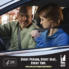 Did you know that teens have one of the lowest rates of seat belt use? Parents, make sure you talk to your teen about seat belt use and include everyone wearing a seat belt in your Parent-Teen Driving Agreement. | Parents Are the Key to Safe Teen Driving | CDC Injury Center