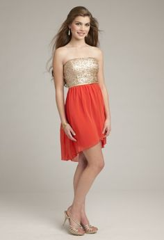 Prom Dresses 2013 - Short Strapless Sequin Dress from Camille La Vie and Group USA