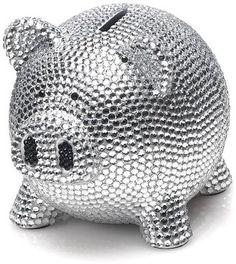 Trumpette Rhinestone Piggy Bank