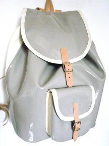 Shiny patent leather.