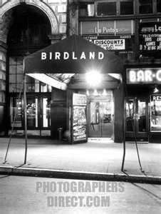 ... Entrance to Birdland Jazz Club , New York ,