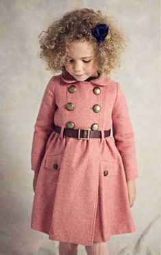beautiful coat pink girl toddler fall look style