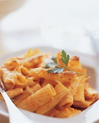 Baked Rigatoni with Mushrooms and Prosciutto