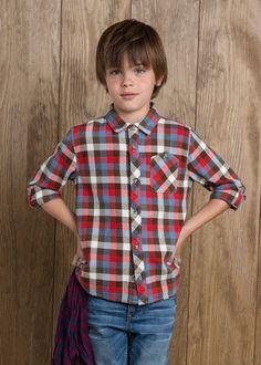 Multicolor check shirt #MANGOKids #FW14 #Kids