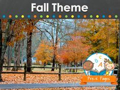 Ideas and activities for a fall theme in preschool, pre-k, or kindergarten classrooms.