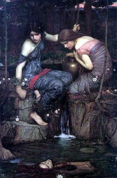 John William Waterhouse British, 1849 - 1917 Nymphs finding the Head of Orpheus  Date: 1900