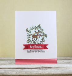 To All Who Are Deer Card by Laurie Willison for Papertrey Ink (September 2014)