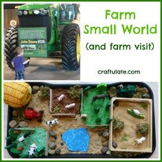 farm small, farms, sensori, play idea, pretend play, craftul, farm theme, activ, kid