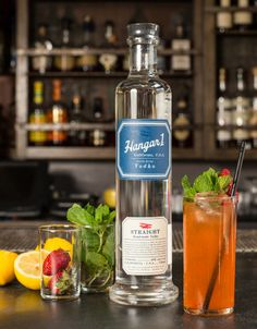 The Left Coast by Caitlin Laman:    1 ½ oz Hangar 1 Straight Vodka ¾ oz Cappelletti Aperitivo ¾ oz lemon juice ½ oz Small Hand Foods Pineapple Gum Syrup 1 barspoon rich simple syrup (2:1) Fresh strawberries Mint  - Build in a highball glass. Muddle fresh strawberries and mint, add ice, top with soda water.