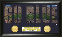 "AAA Sports Memorabilia LLC - University of Michigan ""Word Art"" Bronze Coin Panoramic Photo Mint, $59.99 (http://www.aaasportsmemorabilia.com/collegiate/university-of-michigan-word-art-bronze-coin-panoramic-photo-mint/)"
