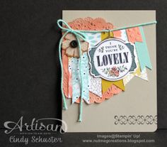 You're Lovely Card by Cindy Schuster