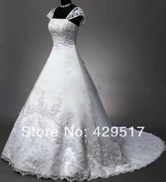 Vintage  Sheer Straps  Ball Gown  Plus size  Lace up  Corset  Wedding  Dress  with  Long  train  Princess US $165.00