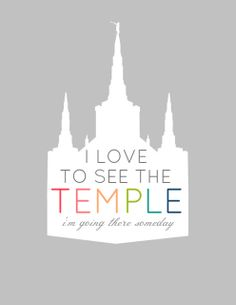 I love to see the Temple!
