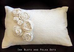 DIY Rosette Pillow.