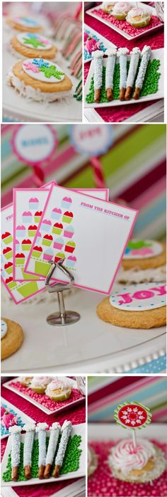 lime green pink holiday party