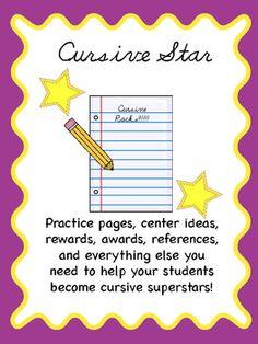 Cursive practice pack- for each letter, common letter combos, words, sentences, plus tons more!