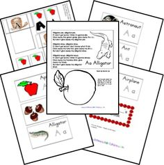pages for alphabet lapbook