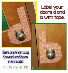 Quick trick to help with d's and b's on a daily basis!  This and other ideas from our Bright Ideas Hop with Simply Kinder!