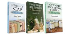 "Free kindle ebook bundle today! Includes ""Homemade Soap For Beginners,"" ""Homemade Liquid Soap For Beginners"" & ""Homemade Body Butter & Lotion For Beginners"""