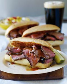 Roast Beef Sandwich With Caramelized Onions And Grainy Mustard ...