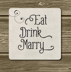 SALE. Set of 48 Eat Drink Marry Stickers  In by MeyerMarketDesigns, $7.95