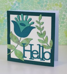 "The Paper Boutique: Make it in Minutes ""Hello"" Card made with the Silhouette"