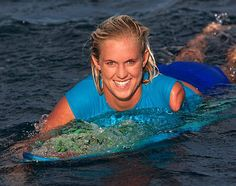 Bethany Hamilton, who has defied all odds to compete and win professional championships after losing her arm in a shark attack at age thirteen.