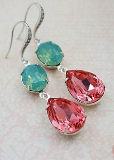 Wedding Jewelry Bridesmaid Earrings Dangle by earringsnation