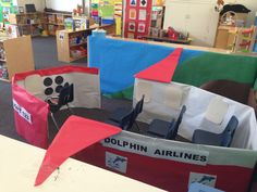Pretend airplane - dramatic play