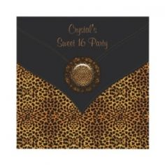 Bring out your wild side with these leopard party invitations. Elegant and fun leopard print party invitations for all occasions, including birthday...
