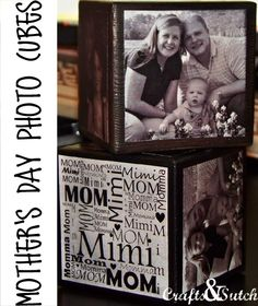 DIY- Memory Photo Blocks~ great gift idea for Mother or Fathers Day, Christmas, etc.