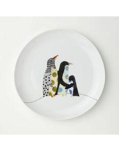 West Elm Penguin Friends Dessert Plate