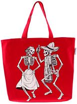 Day of the Dead Skeleton Tote Bag at PLASTICLAND