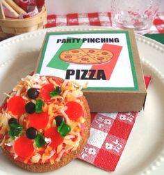 """""""Pizza"""" cookies for pizza party"""