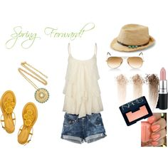 Spring style - loving the shoes and the makeup colors! summer styles, spring colors, spring summer, makeup color, summer outfits, closet, shoe, hat, spring style