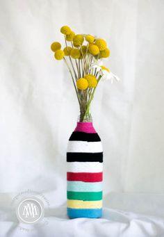 yarn striped vase - Google Search