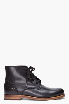 COMMON PROJECTS //  Black Work Boots