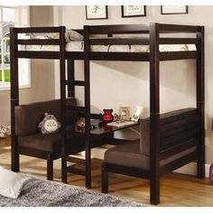 bunk beds, tiny houses, loft, kid rooms, twin beds, forest, desk, small spaces, furniture decor