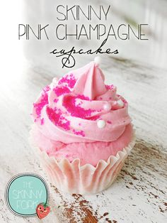 Skinny Pink Champagne Cupcakes - Cupcake Daily Blog - Best Cupcake Recipes .. one happy bite at a time!