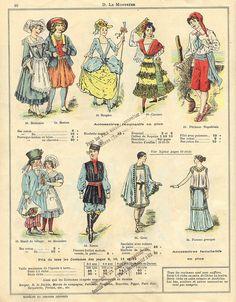 historical costumes http://www.flickr.com/photos/taffeta/sets/72157629350558041/ #clothes #history