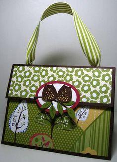 Cute paper bag purse #stampinup